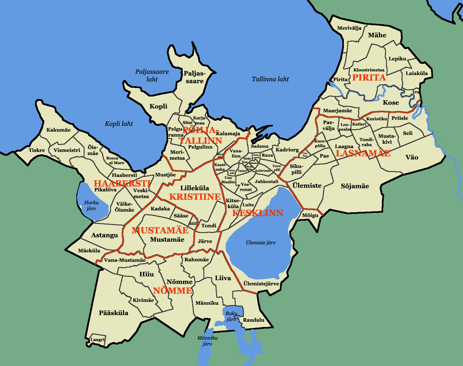 Tallinna linnaosad ja asumid
