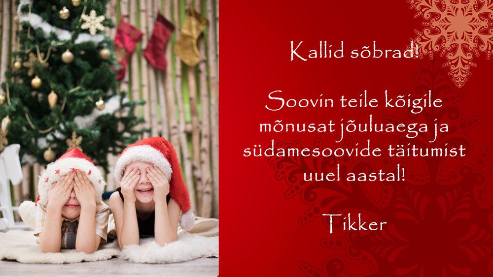 jõulukaart blogi